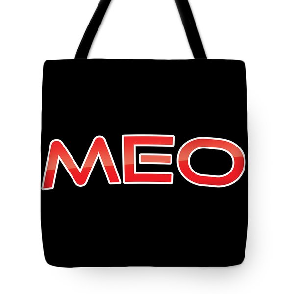 Tote Bag featuring the digital art Meo by TintoDesigns