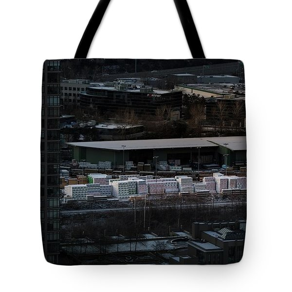 Tote Bag featuring the photograph Merchandise Beside A Railroad Track  by Juan Contreras