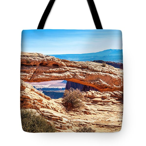 Tote Bag featuring the photograph Mesa Arch by Andy Crawford