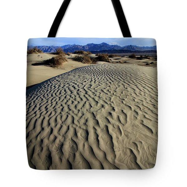 Mesquite Flat Sand Dunes Grapevine Mountains Tote Bag