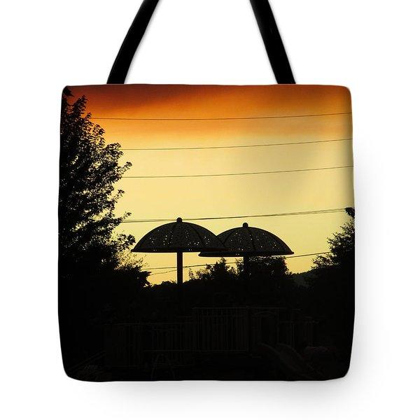 Metallic Love Tote Bag