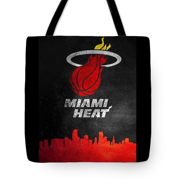 Miami Heat Skyline Tote Bag