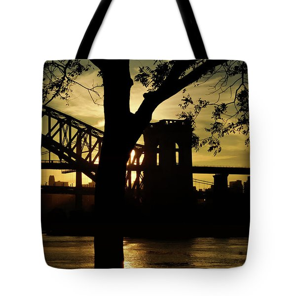 Mid Autumn Silhouette Tote Bag