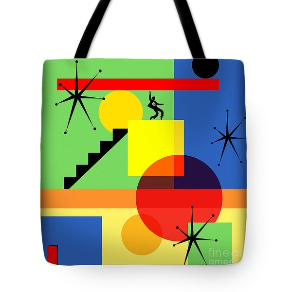 Mid Century Modern Abstract Jailhouse Rock 20190106 Square Tote Bag