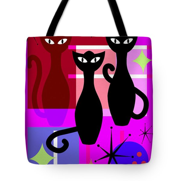 Mid Century Modern Abstract Mcm Bowling Alley Cats 20190113 M103 Tote Bag