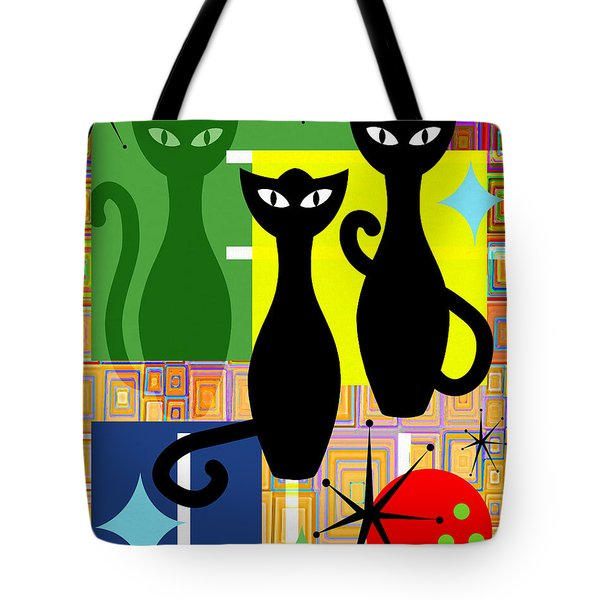Mid Century Modern Abstract Mcm Bowling Alley Cats 20190113 V2 Tote Bag