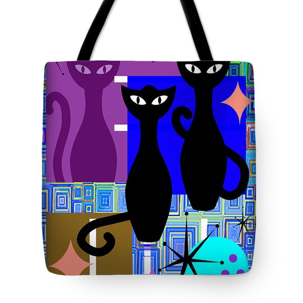 Mid Century Modern Abstract Mcm Bowling Alley Cats 20190113 V2m1 Tote Bag