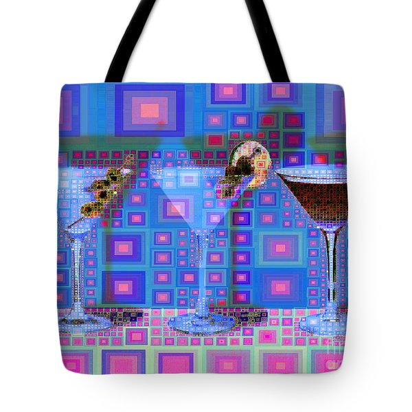 Mid Century Modern Abstract Mcm Three Martinis Shaken Not Stirred 20190127 V2a Tote Bag