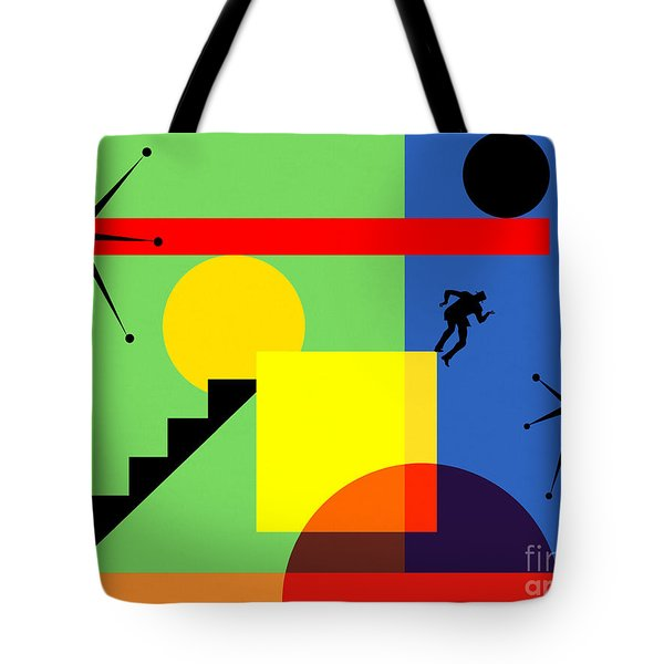 Mid Century Modern Abstract Over The Edge 20190106 Horizontal Tote Bag