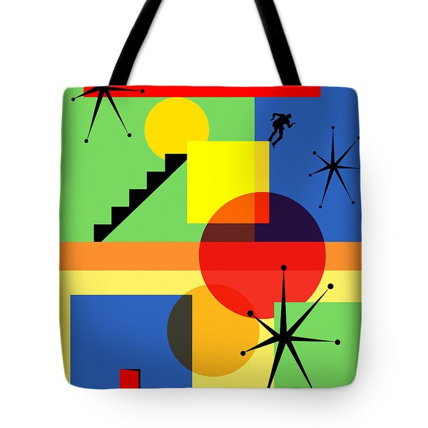 Mid Century Modern Abstract Over The Edge 20190106 Tote Bag