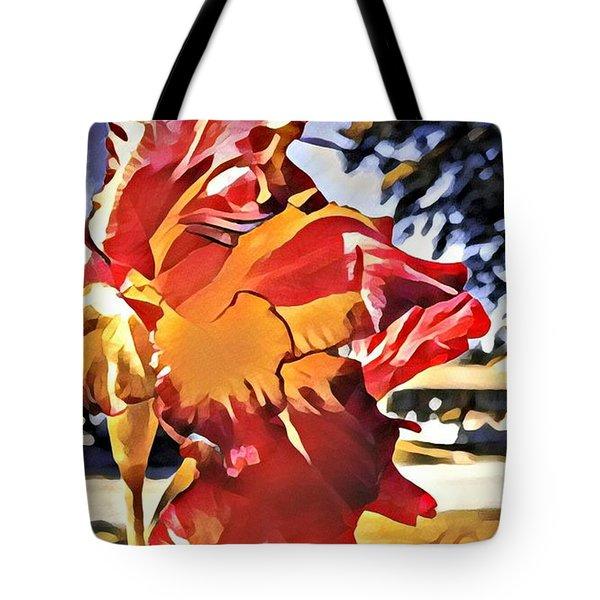 Midcentury Floral Print 001 Tote Bag