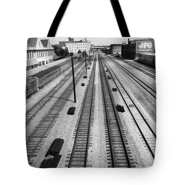 Middle Of The Tracks Tote Bag