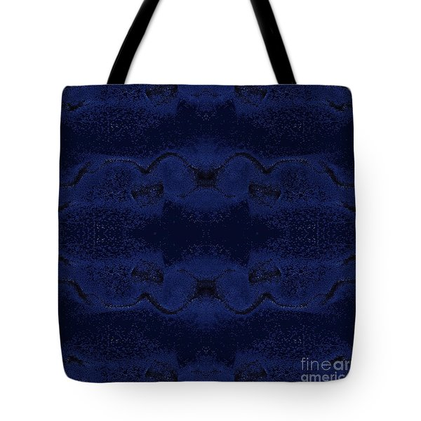 Tote Bag featuring the digital art Midnight Blue by Rachel Hannah