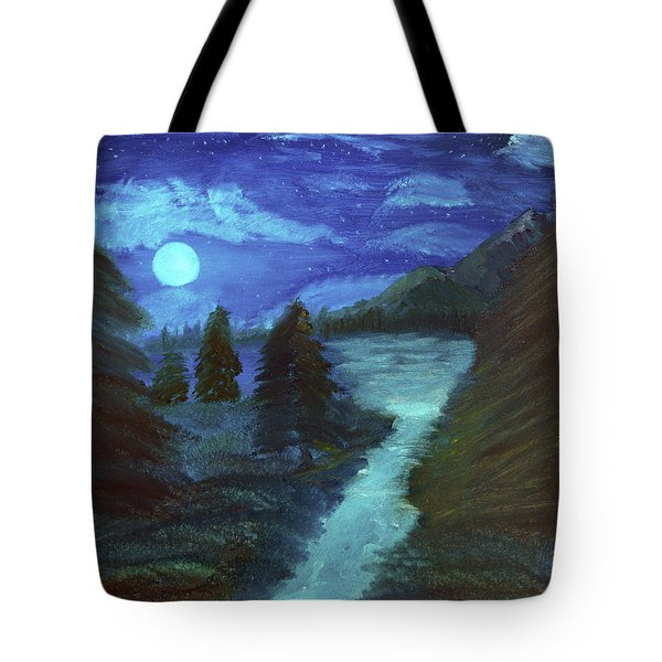 Midnight River Tote Bag