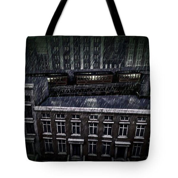 Midnight Train Tote Bag