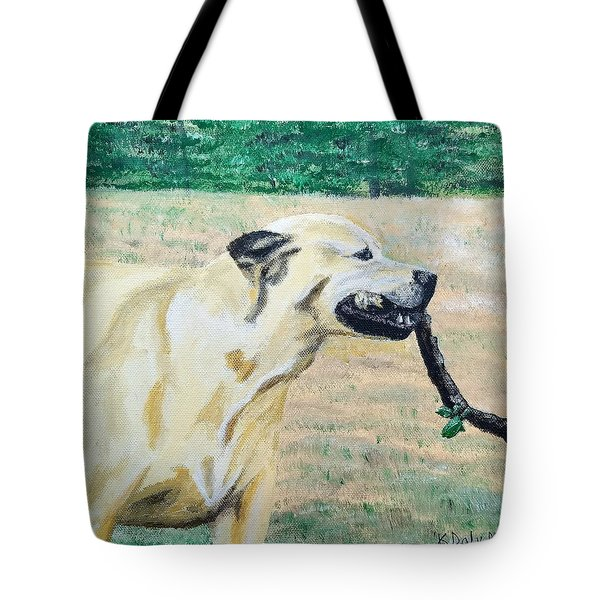 Tote Bag featuring the painting Mike by Kevin Daly