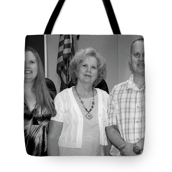 Tote Bag featuring the photograph Mike's Family by Angela Murdock