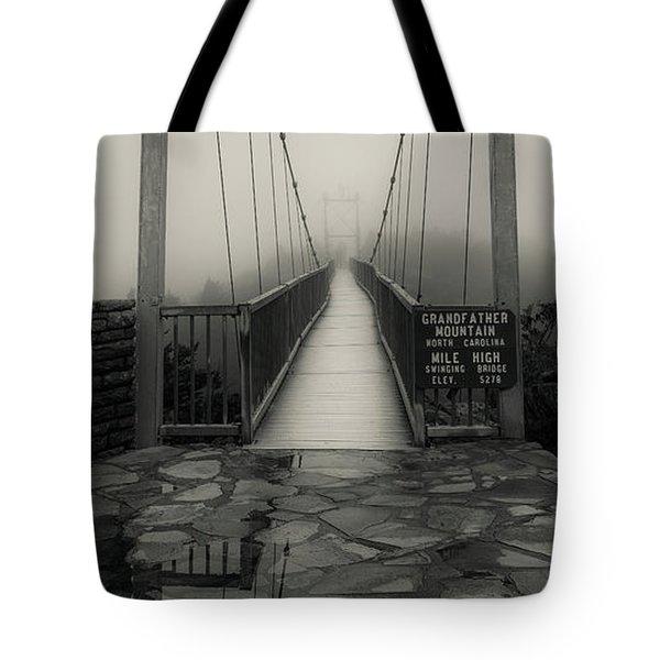 Mile High Swinging Bridge - Grandfather Mountain Tote Bag