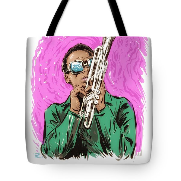 Miles Davis - An Illustration By Paul Cemmick Tote Bag