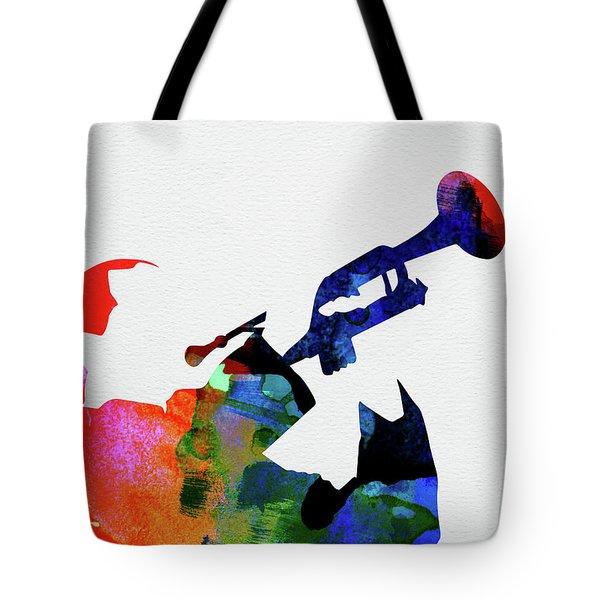 Miles Davis Watercolor Tote Bag