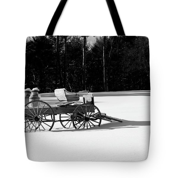 Tote Bag featuring the photograph Milk Wagon Monochrome by Wayne King