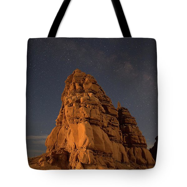 Milky Way On The Rocks Tote Bag