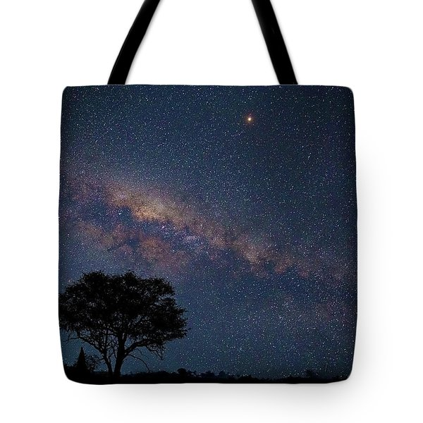 Milky Way Over Africa Tote Bag