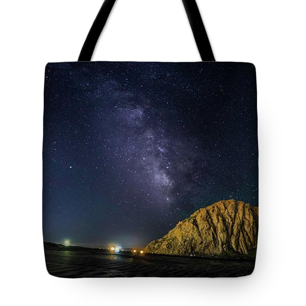 Milky Way Over Morro Rock Tote Bag
