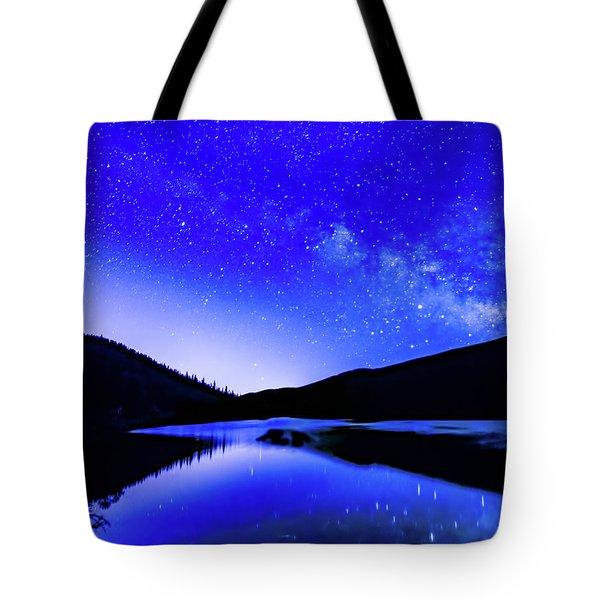 Milky Way Over Springtime Echo Lake Tote Bag
