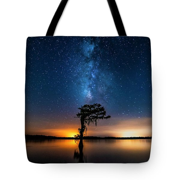 Tote Bag featuring the photograph Milky Way Swamp by Andy Crawford