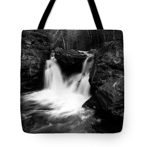Tote Bag featuring the photograph Mill Falls Monochrome by Wayne King