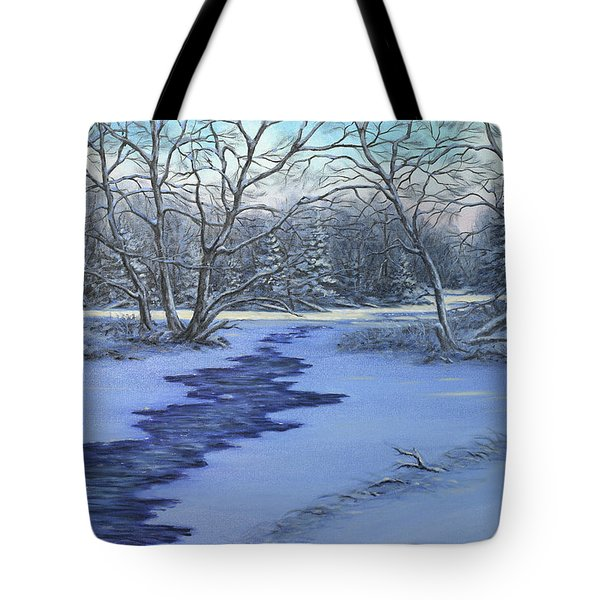 Millhaven Creek In Winter Tote Bag