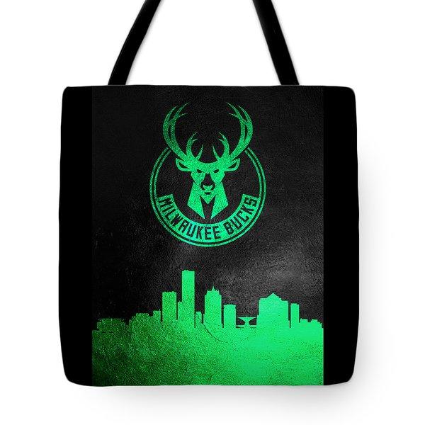 Milwaukee Bucks Skyline Tote Bag
