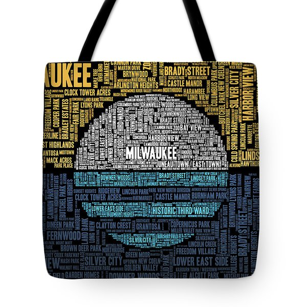 Milwaukee Neighborhood Word Cloud Tote Bag