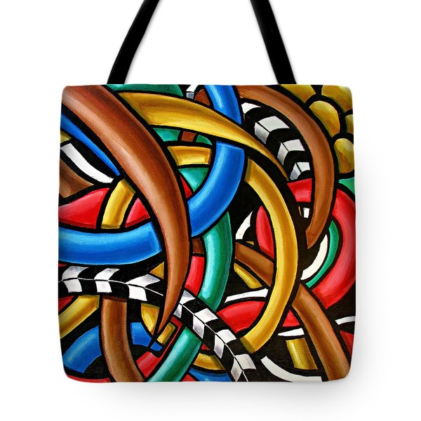 Colorful Abstract Art Painting Chromatic Intuitive Energy Art - Ai P. Nilson Tote Bag
