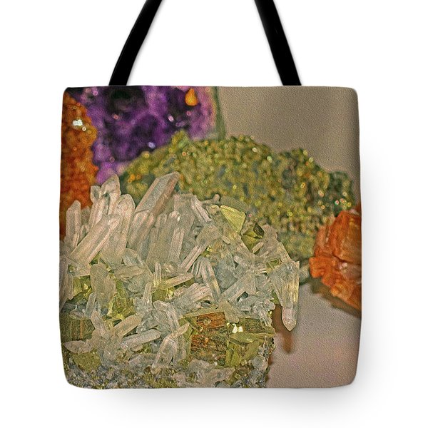 Tote Bag featuring the photograph Mineral Medley 7 by Lynda Lehmann