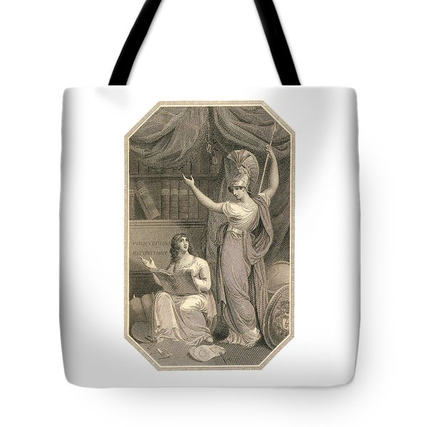 Minerva Directing Study To The  Attainment Of Universal Knowledge Tote Bag