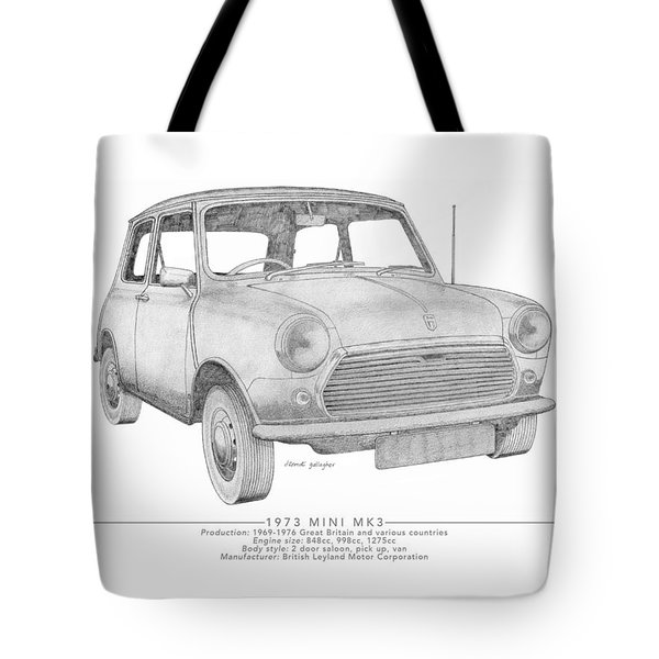 Mini Mk3 Saloon Tote Bag