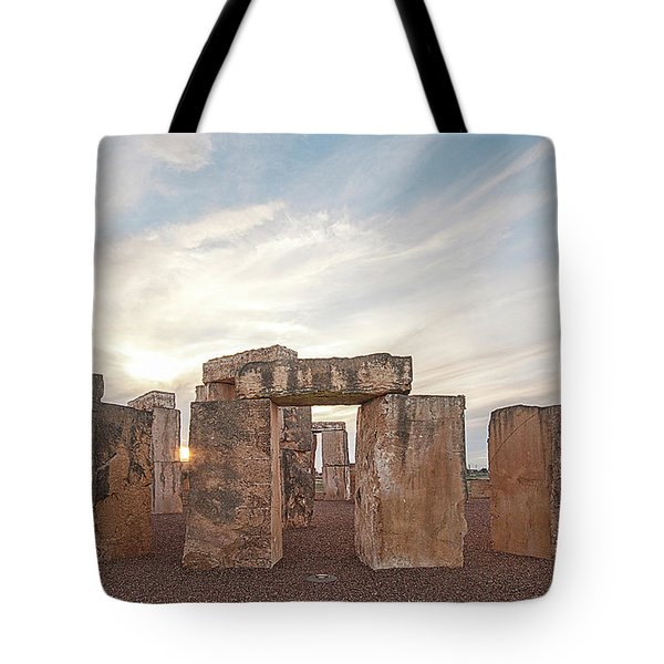 Tote Bag featuring the photograph Mini Stonehenge by Scott Cordell