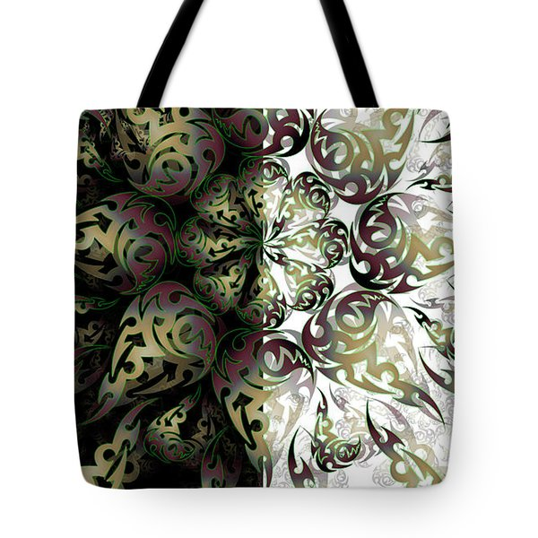 Tote Bag featuring the digital art Minimal Trance by Vitaly Mishurovsky