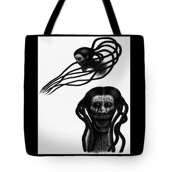 Tote Bag featuring the drawing Minna - Artwork by Ryan Nieves