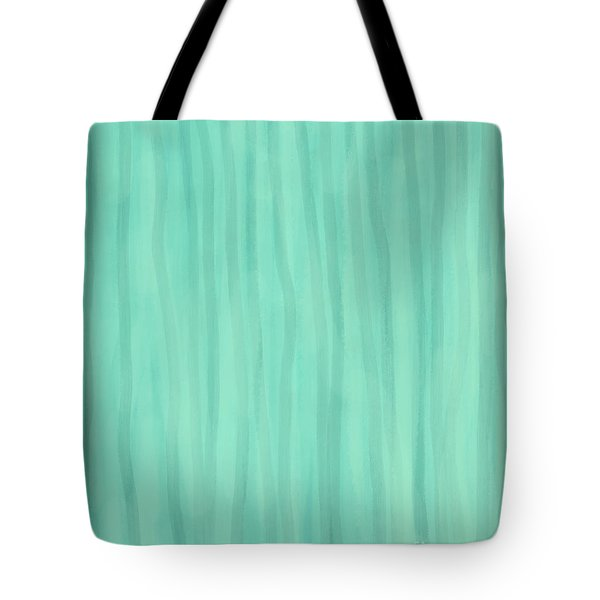 Mint Green Lines Tote Bag