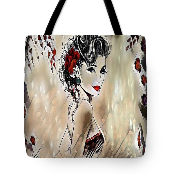 Miss Playful Red Tote Bag