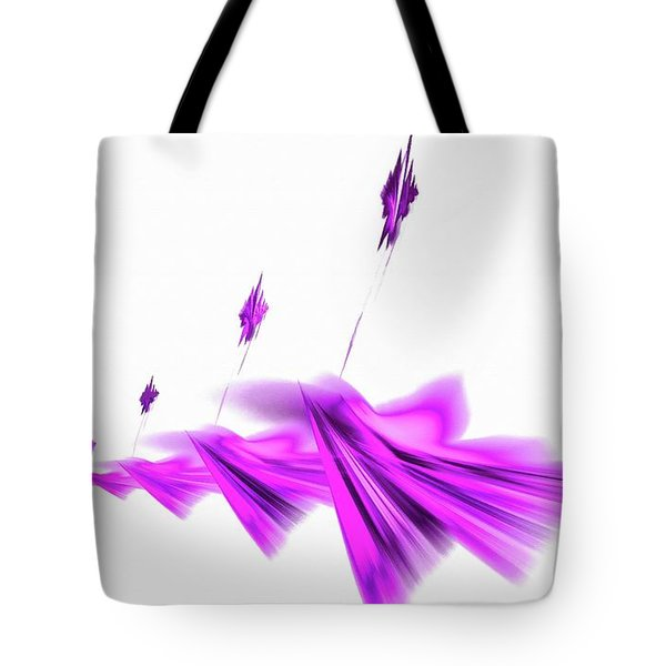 Missile Command Purple Tote Bag