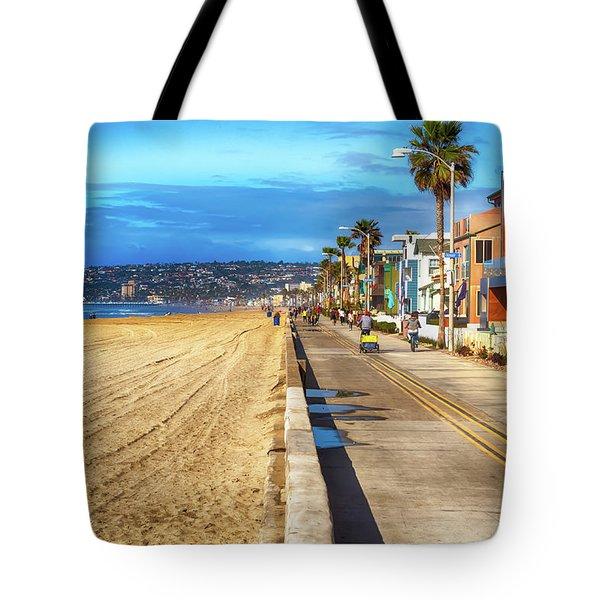 Mission Beach Boardwalk Tote Bag