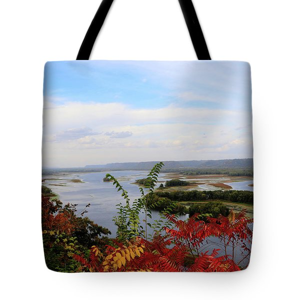 Mississippi River In The Fall Tote Bag