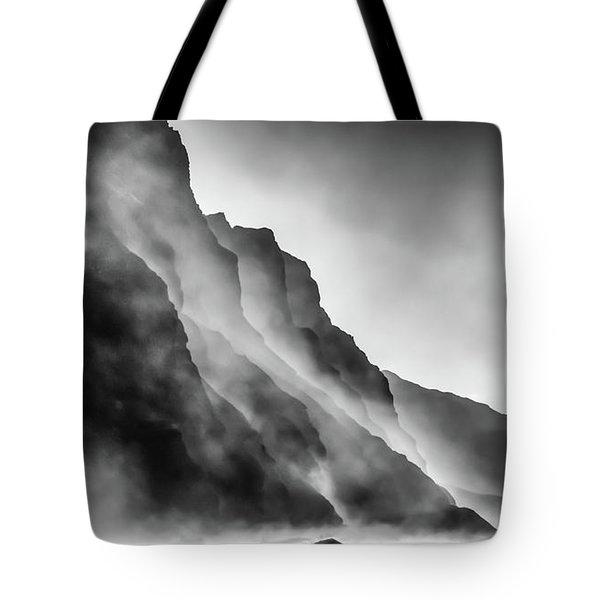Mist On The Rocks Tote Bag
