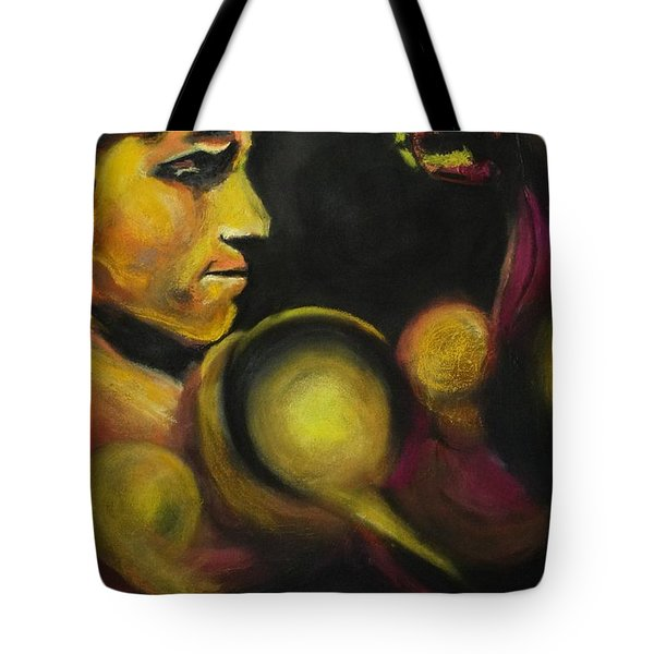 Tote Bag featuring the pastel Mister Of The Universe by Eric Dee