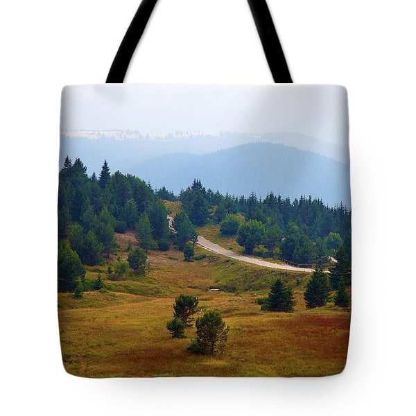 Tote Bag featuring the photograph Misty Afternoon by Milena Ilieva