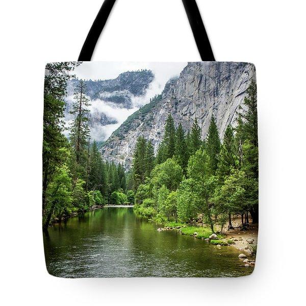 Misty Mountains, Yosemite Tote Bag
